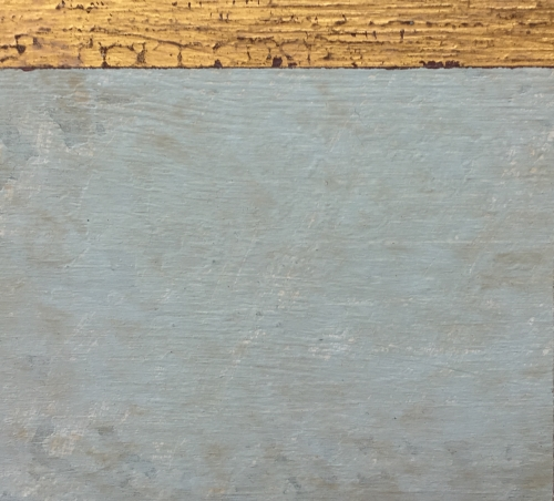 Antique Winter Blue and Gesso Finish for Furniture