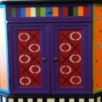 Colorful Corner Cabinet