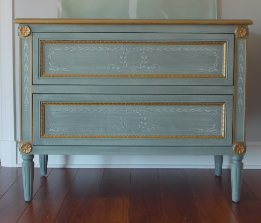 Classic Glamour with Hand Painted Furniture