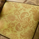 Pumpkin Damask Ultrasuede