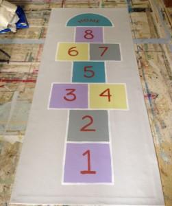 Hopscotch Floorcloth