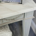 Gesso Glaze and Faux Marbre Table