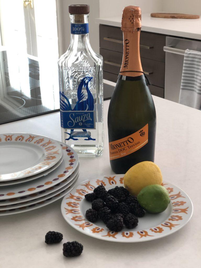 Blackberry Margaritas and Kismet Dishes