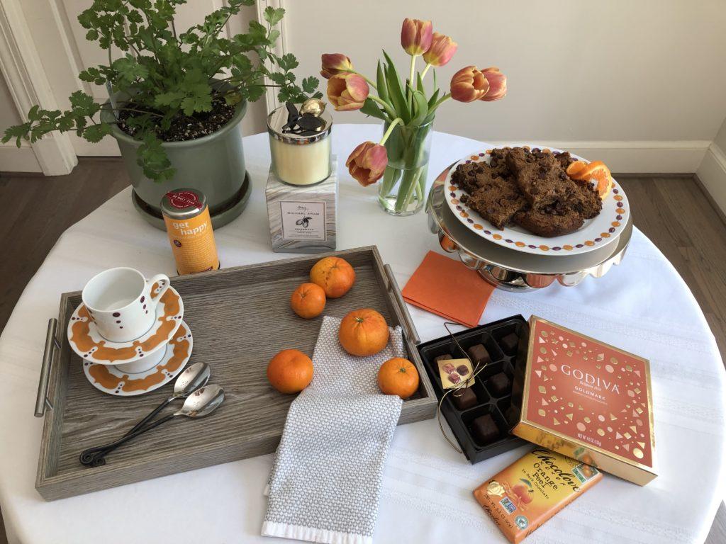 Creative vibe of Orange Chamomile Blondies on Kismet Dishes.
