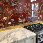 From Galley to Gallery, A Custom Painted Kitchen Backsplash