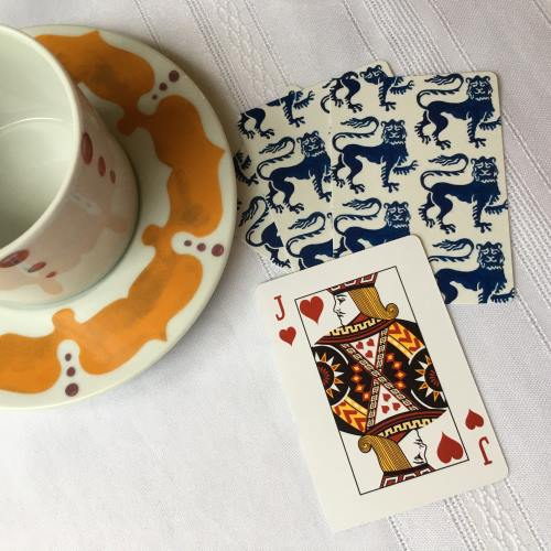 Playing Cards Guardian Lion White