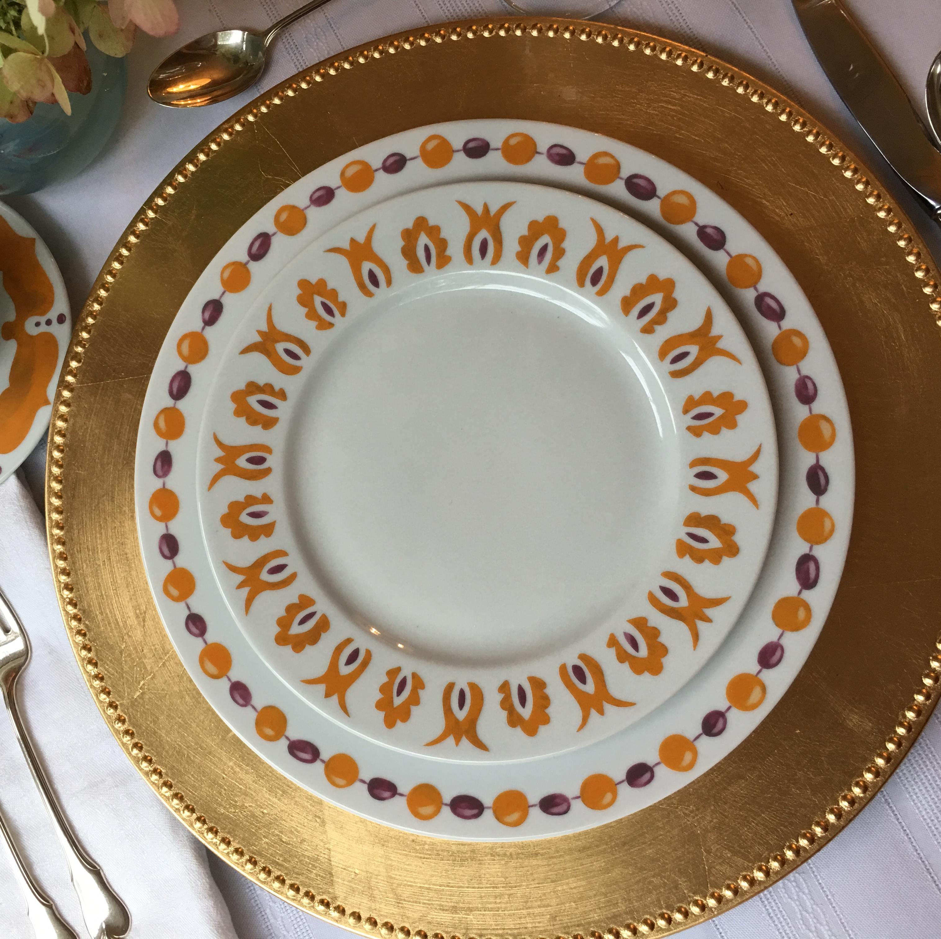 Kismet Saffron Dinner & Salad Plates
