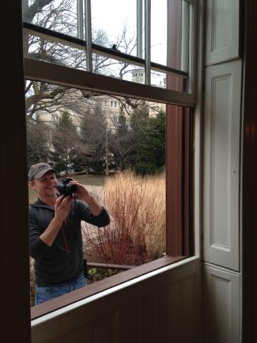Lincoln Cottage, faux bois, quarter sawn oak woodgrain, front doors, with Jeff Larry, historic preservationist