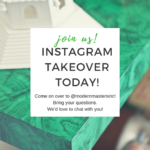 Instagram Takeover with Modern Masters, March 19