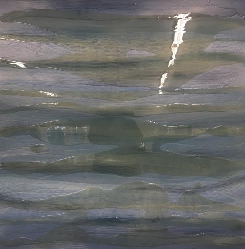 Fine Art, Ocean. Multi media, modern art.