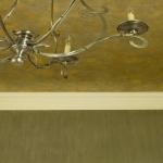 Slubbed Walls & Troweled Metallic Ceiling