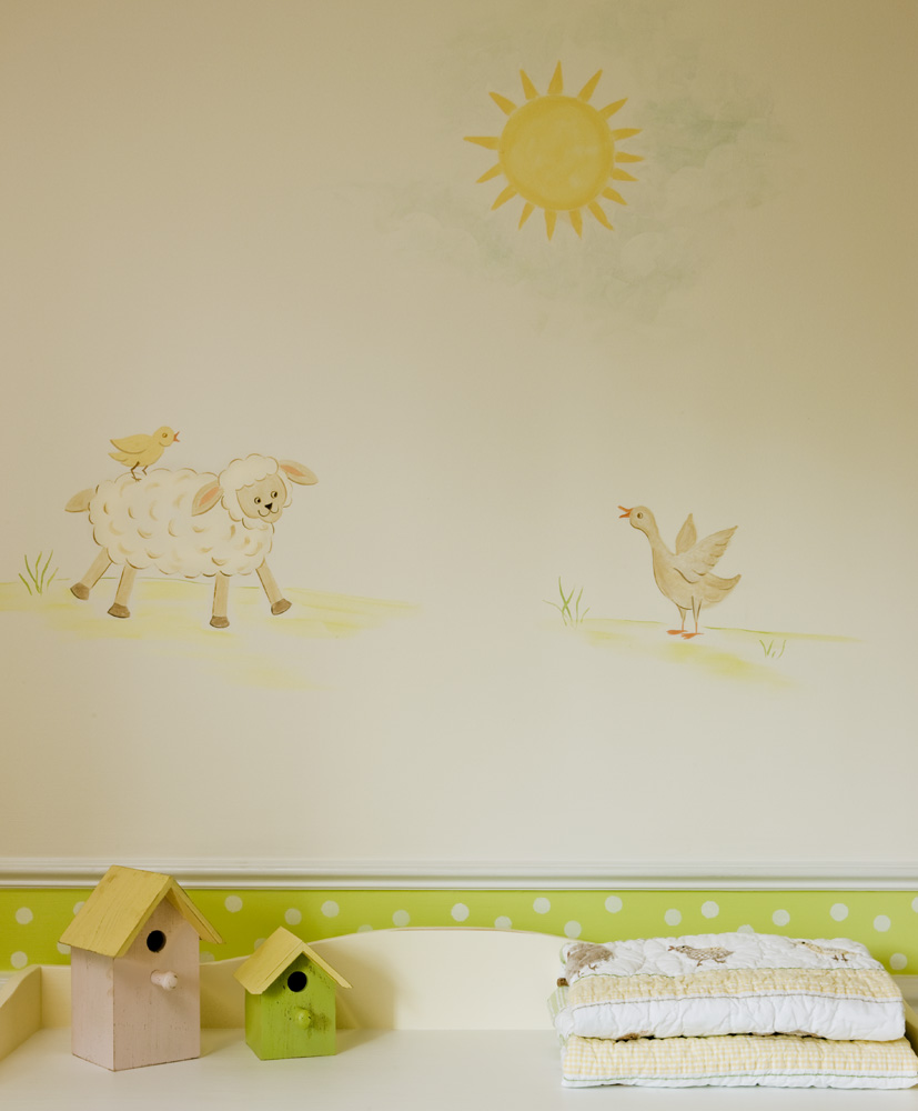 Nursery Walls and Simple Mural Ideas